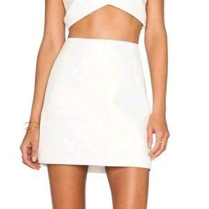 NBD The NAVEN TWINS Pebble Faux Leather Mini Skirt